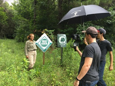 Landowner Vickie Roberts Ratliff was one of nine individuals featured in the SGSF video series, People of Forestry.