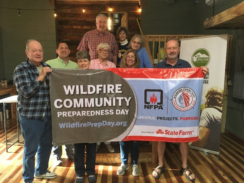 The Cedarbrook Community prepares for the 2019 Wildfire Community Preparedness Day.
