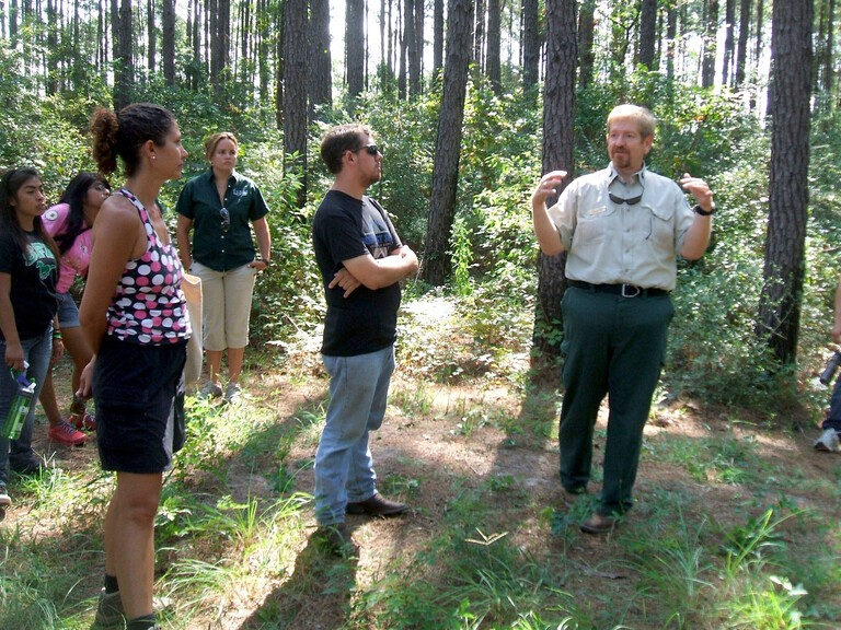 John Warner, a recently retired Urban District Forester with the Texas A&M Forest Service